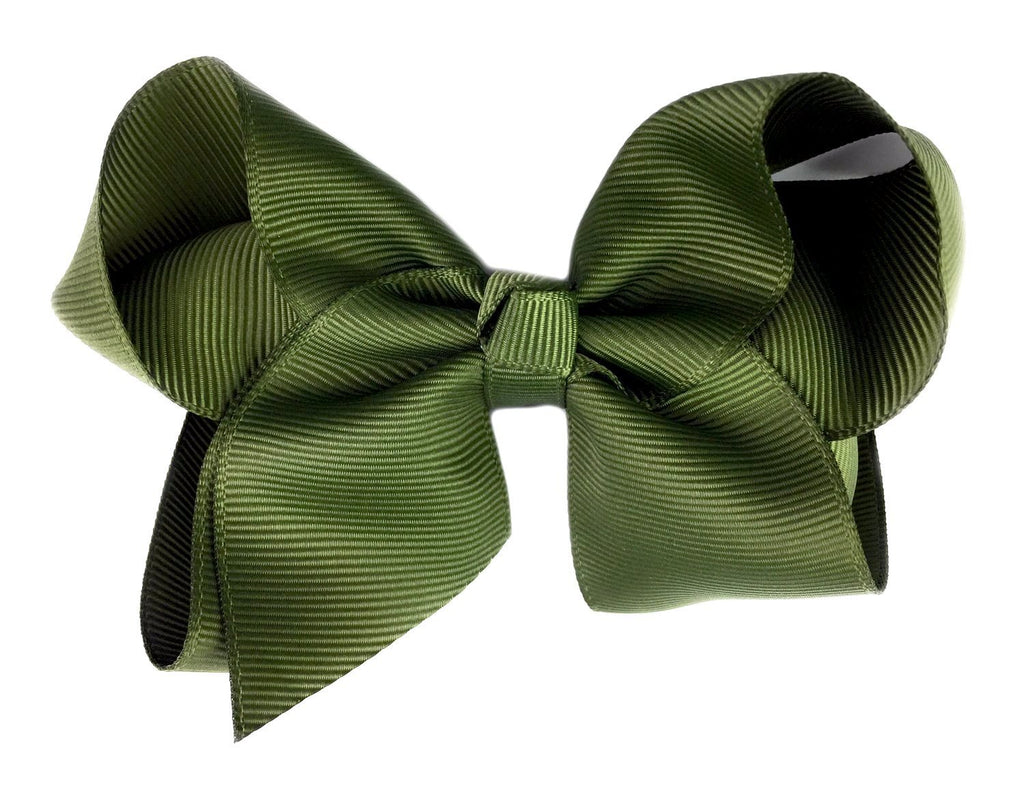 Americana Bow Pinch Clip - Moss Green - Baby Wisp