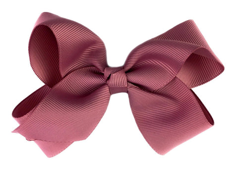 Americana Bow Pinch Clip - Rosy Mauve - Baby Wisp