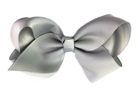 Americana Bow Pinch Clip - Grey