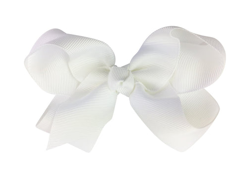 Americana Bow Pinch Clip - White