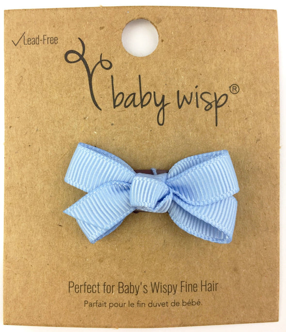 Mini Latch Wisp Clip - Chelsea Boutique Bow - Bluebird - Baby Wisp