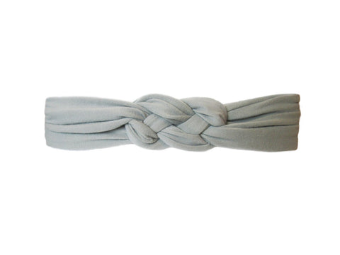 Baby Headwrap - Braided Sailor Knot - Baby Wisp - grey