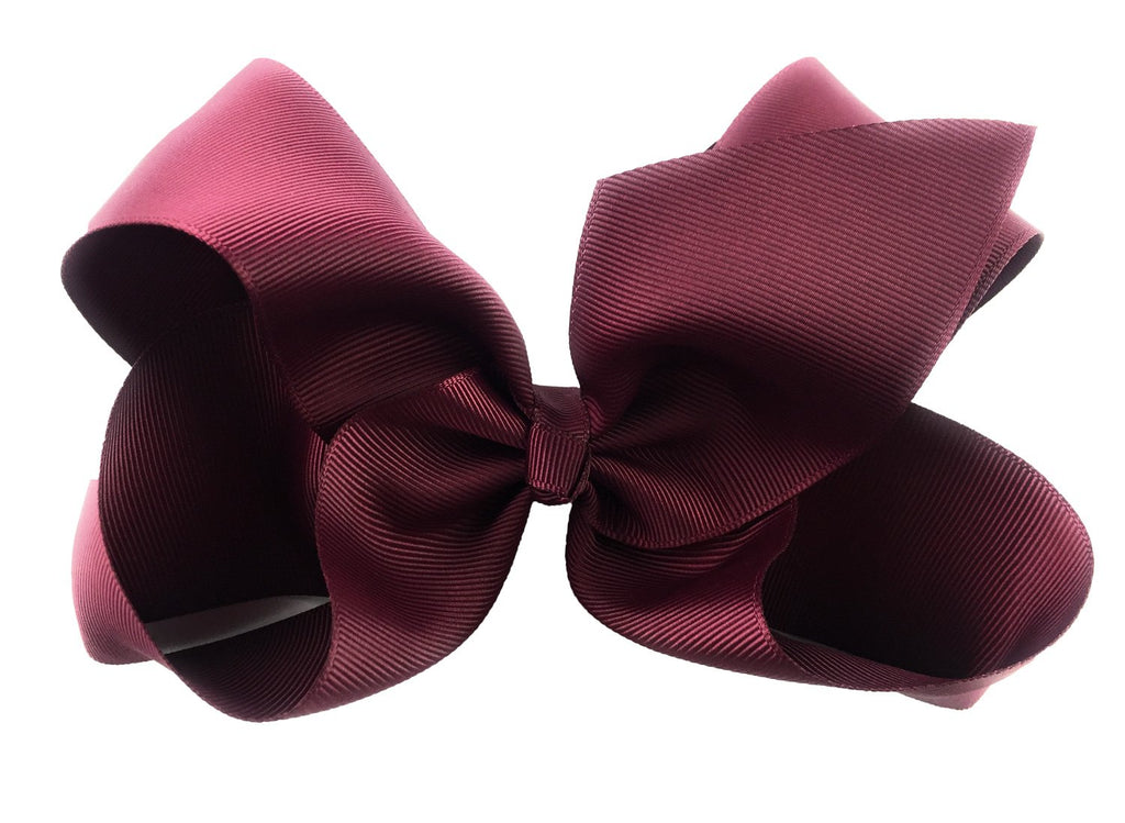 Nicki Bow Pinch Clip - Burgundy - Baby Wisp
