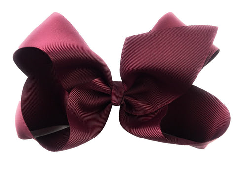 Nicki Bow Pinch Clip - Burgundy