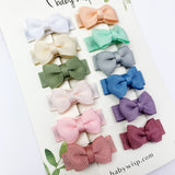 Ultimate Baby Bow Gift Set - 12 Pc Small Snap Tuxedo Grosgrain Hair Bows