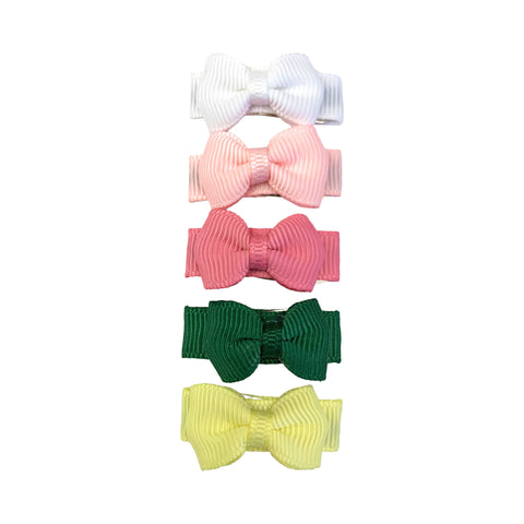 Small Snap Tuxedo Grosgrain Hair Bow Collection - Esmeralda