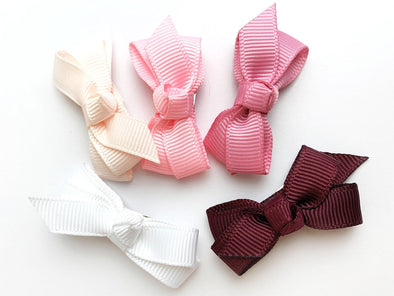 Small Snap Chelsea Boutique Bow Collection - Pinkie Promise - Baby Wisp