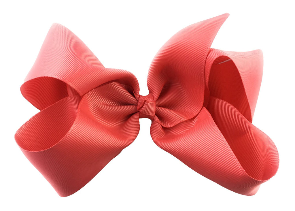Nicki Bow Pinch Clip - Deep Coral - Baby Wisp