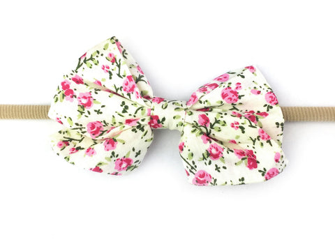 Kylie Bow Infant Headbands - Floral Prints - Baby Wisp