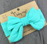 Infant Stretch Jersey Knit Fabric Bow Headbands - Baby Wisp