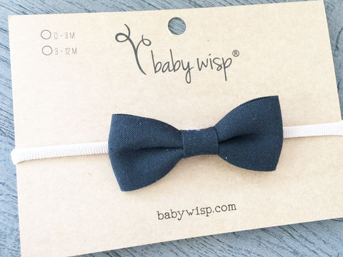 cute black bow baby headband