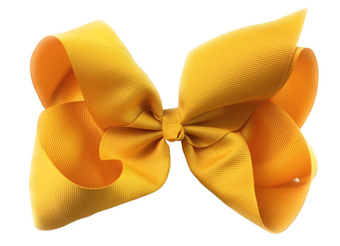 Nicki Bow Pinch Clip - Dandelion Yellow - Baby Wisp