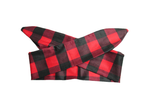 Top Knot Plaid Headband LumberJack Canadiana Print (Buffalo Plaid) - Baby Wisp