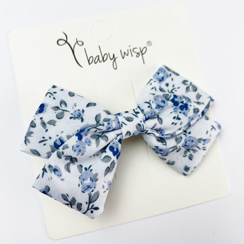 Emma - Fabric Hair Bow Alligator Clip - Baby Wisp