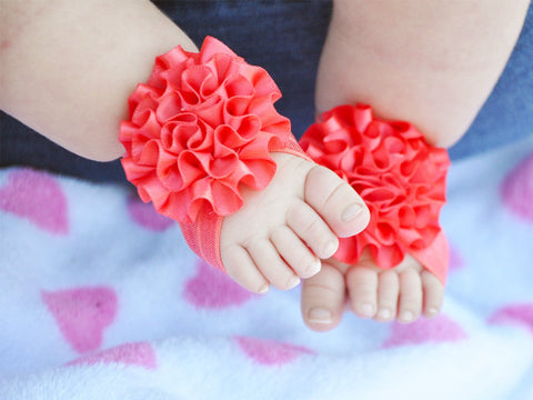 Barefoot Flower Sandals for Baby Girl - Baby Wisp