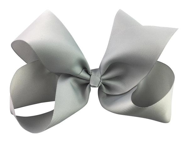 Nicki Bow Pinch Clip - Grey - Baby Wisp