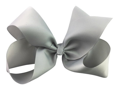 Nicki Bow Pinch Clip - Grey