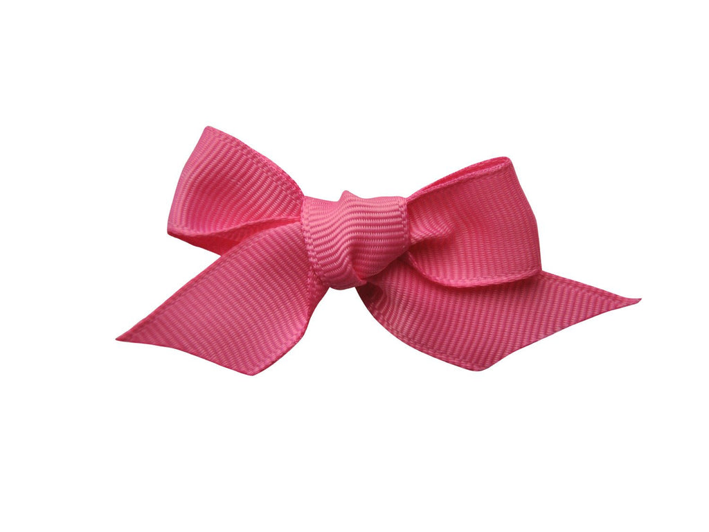 Hand Tied Bow - Hot Pink - Baby Wisp