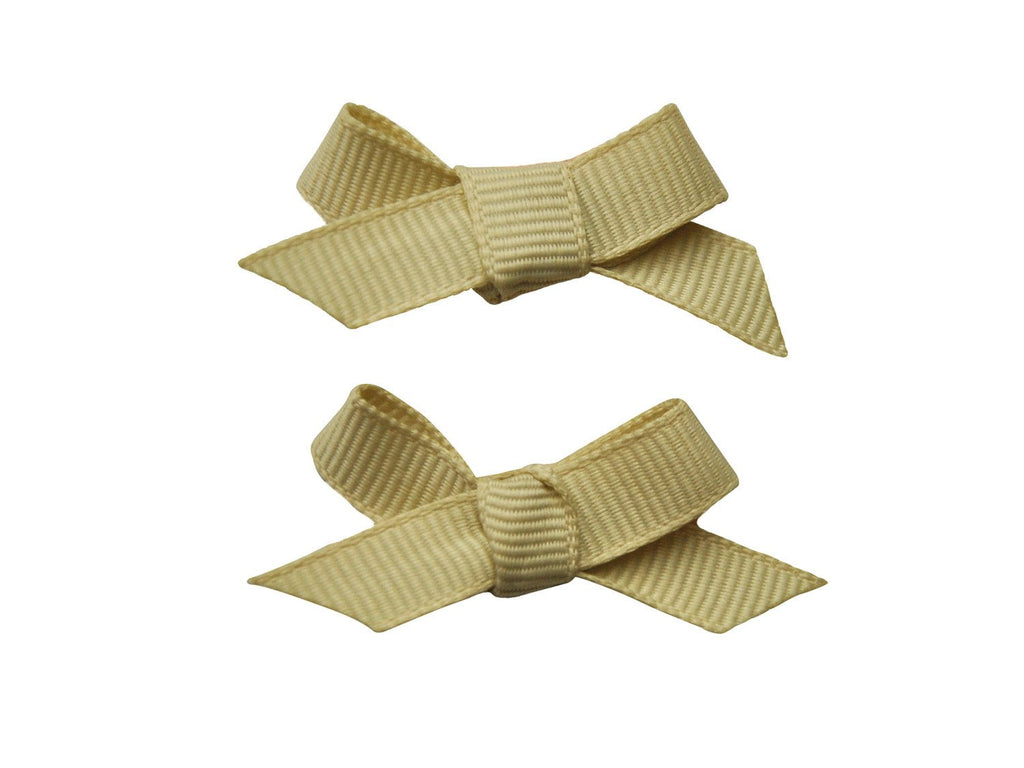 Hand Tied Bows - Grosgrain Cream - Baby Wisp