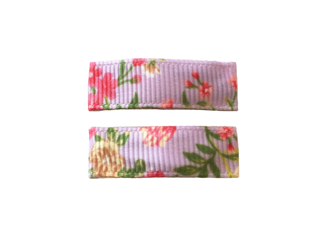 Handmade - Small Snap Urban Clip - Lavender Floral