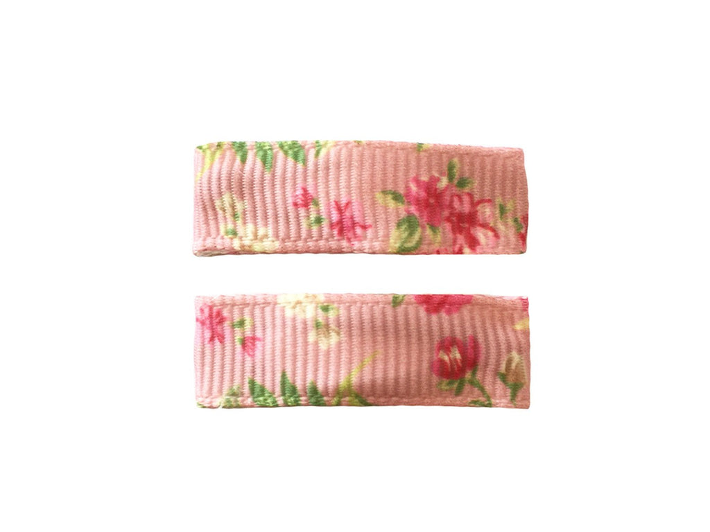 Handmade - Small Snap Urban Clip - Blush Pink Floral - Baby Wisp