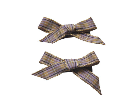 Hand Tied Bows - Plaid - Baby Wisp