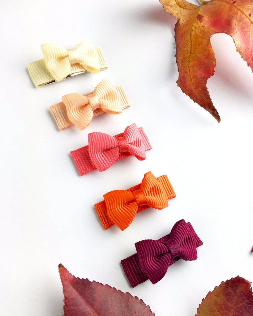 Small Snap Hair Bows - Harvest Pack - Baby Wisp