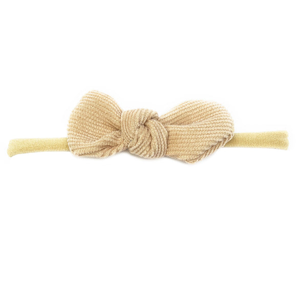 Cordelia Corduroy Knot Bow Headband For Babies and Toddlers - Baby Wisp