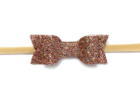 Mya Glitter Bow - Headband for Babies - Baby Wisp