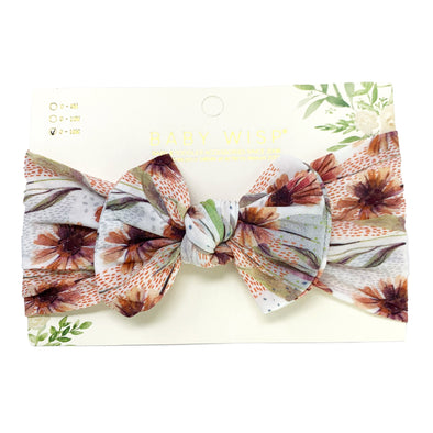 Infant Headwrap Nylon Bow Floral Headband - Arizona