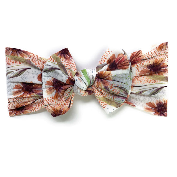 Infant Headwrap Nylon Bow Floral Headband - Arizona - Baby Wisp