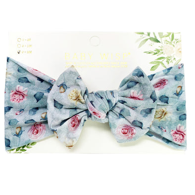 Infant Headwrap Nylon Bow Floral Headband - Cloud Nine