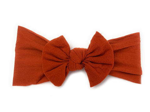 Infant Headwrap Nylon Bow Headband - Pumpkin Spice - Baby Wisp
