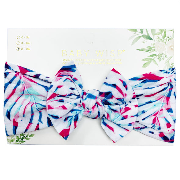 Infant Headwrap Nylon Bow Headband - Rainforest - Baby Wisp