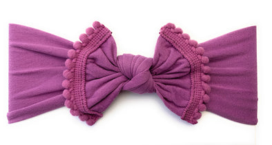 Infant Headwrap Nylon Pom Pom Trim Headband - Baby Wisp