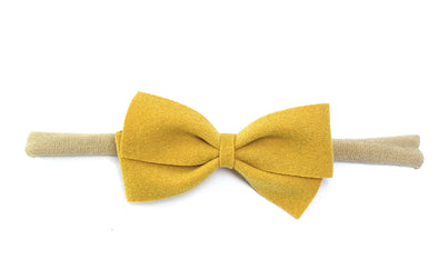 Thali Faux Suede Bow Headband for Babies