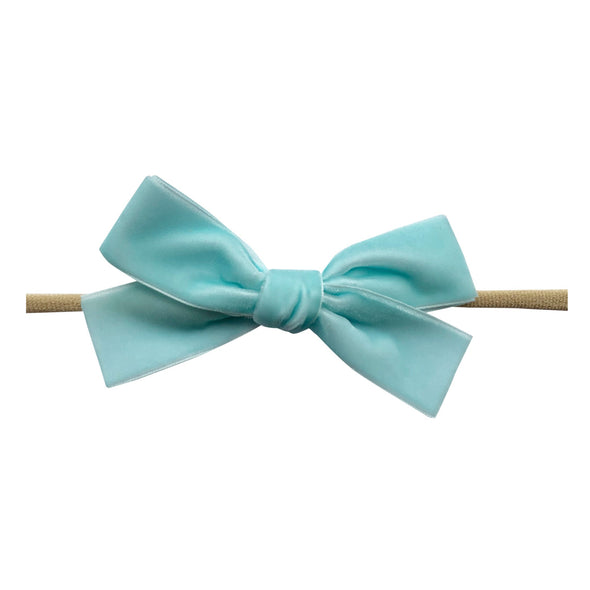 Velvet Bow - Baby and Toddler Headband (1 inch Ribbon) - Baby Wisp