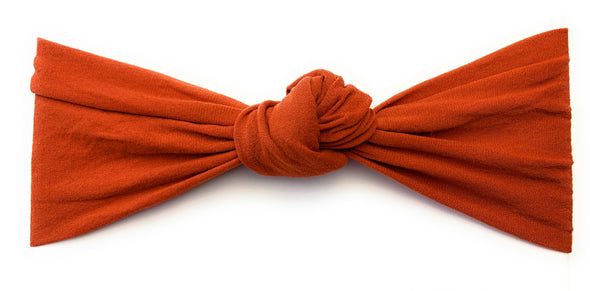 Infant Headwrap - Turban Knot Headband - Pumpkin Spice - Baby Wisp
