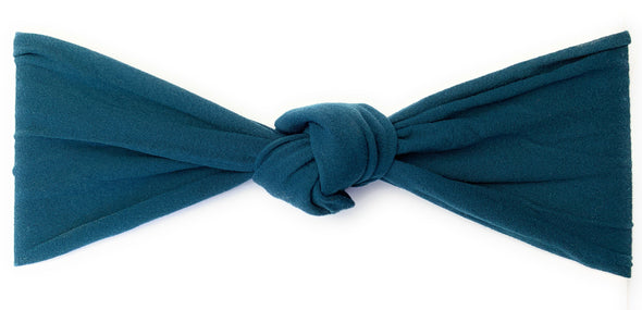 Infant Headwrap - Single Knot Headband - Deep Teal - Baby Wisp