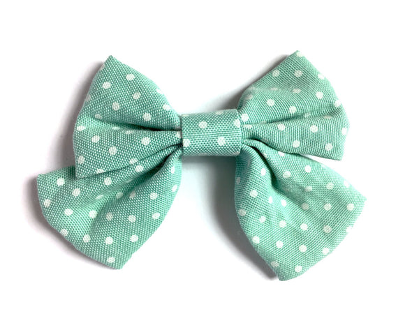 Oversized Sailor Hair bow Pinch Clip - Polka Dots - Baby Wisp