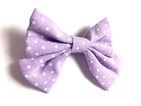 Giant Hair Bow Girls Toddlers Polka Dot Fabric Bow