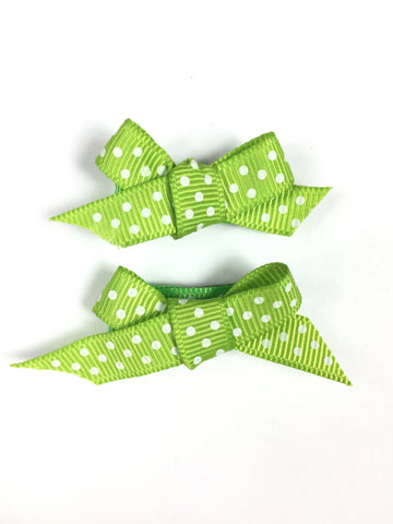 GREEN hair bows for toddlers infants babies for fine hair