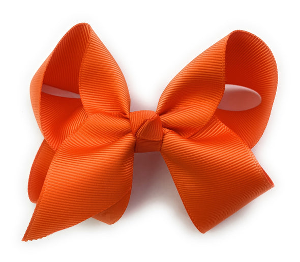 Americana Bow Pinch Clip - Orange Hair Bow - Baby Wisp