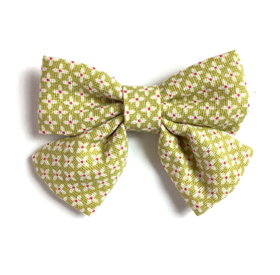 Retro Fabric Oversized Hairbow Pinch Clip - Baby Wisp