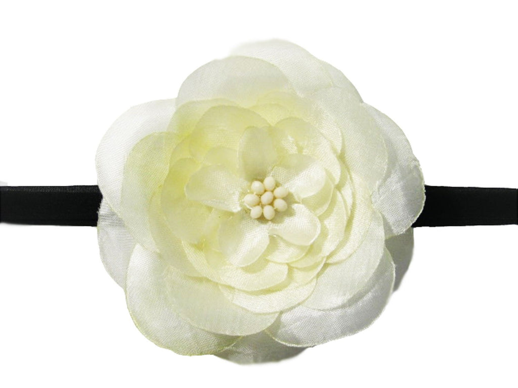 ivory jasmine flower headband for infants
