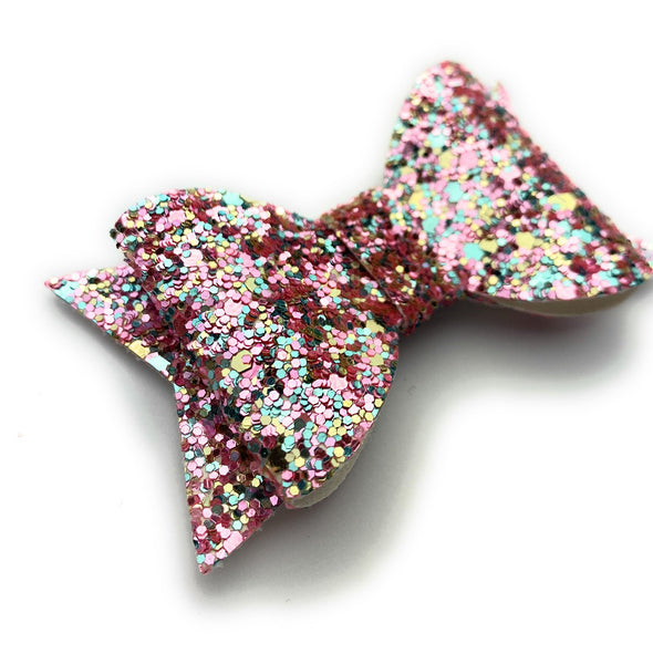Toddler Wisp Clip - Courtney Sparkly Bow - Baby Wisp