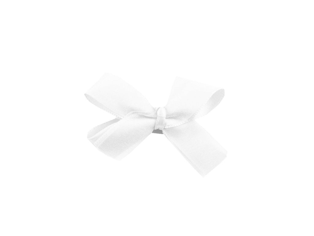 Mini Latch Boutique Bow - White - Baby Wisp