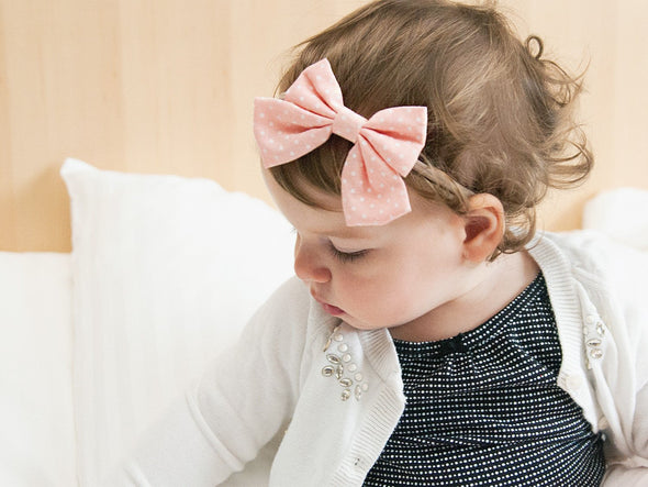 Sailor Bow -Polka Dot Baby Toddler Headbands - Baby Wisp