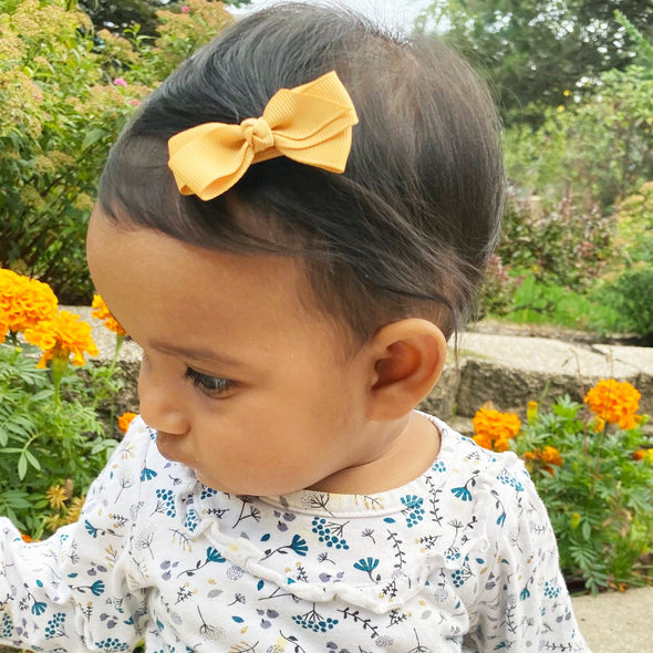 Fall Color Bows Aiyanna Toddler Bow - Alligator Hair Clip - Baby Wisp