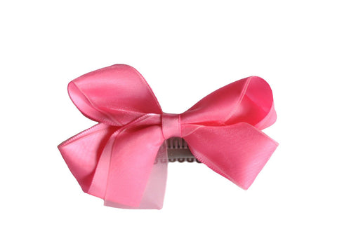 Large Latch Organza Boutique Bow - Baby Wisp
